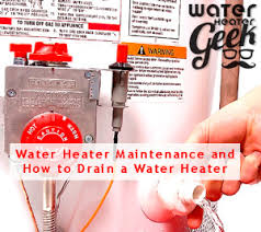 water heater maintenance and how to drain a water heater h2o