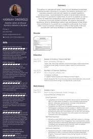 Intern Resume Example by Dietetic Intern Resume Samples Visualcv Resume Samples Database