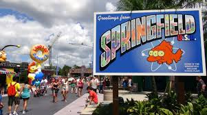 Universal Studios Orlando Map 2015 The Simpsons New Springfield Area Complete Tour Universal