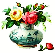 Flowers With Vases Free Baskets And Bouquets Clipart Public Domain Plant Clip Art