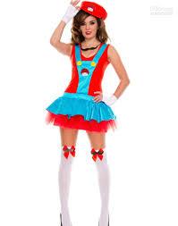 halloween costumes online store wholesale women u0027s halloween costume playful plumber red green