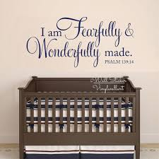 baby room wall decals quotes promotion shop for promotional baby i am fearfully wonderfully made quotes wall decal baby room quote wall art sticker diy children removable decor cut vinyl q240