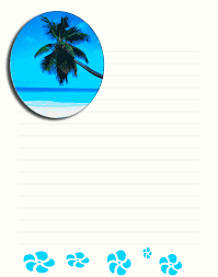 free printable beach stationary stationery