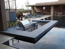luxury swimming pool ideas with outdoor kitchen for modern home
