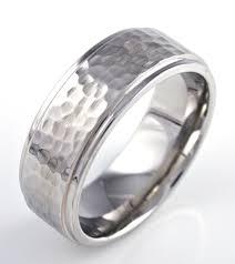 hammered wedding band hammered wedding band unique titanium rings more titanium buzz
