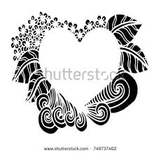 vector elements heart frame coloring book stock vector 344941199