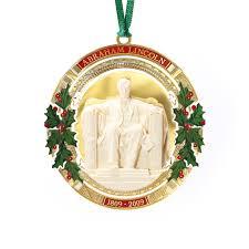 2009 white house ornament president abraham lincoln 24 kt gold