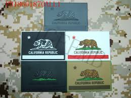 State Flag Velcro Patches Usa California Flag Tactical Military Morale 3d Pvc Patch In