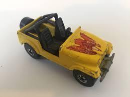 cj jeep yellow wheels mattel 1981 jeep cj 7 vintage yellow collectible