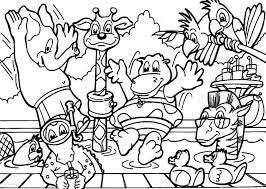 cartoon coloring pages animals printable colors color book
