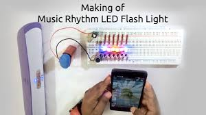 how to make a rhythm led flash light using microphone