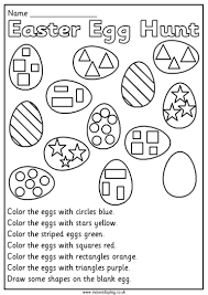 Worksheets For Math Easter Mathematics Worksheets For 1st Grade