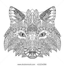 royalty free fox head tattoo psychedelic u2026 376673758 stock