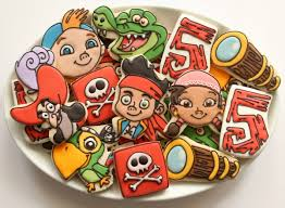 jake neverland pirate cookies decorate cookies