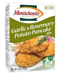 manischewitz latke mix garlic rosemary potato pancake mix 6 oz of 12