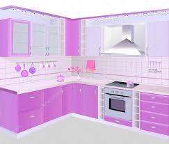 küche pink interieur mit rosa möbel und fliesen stockvektor 31054047