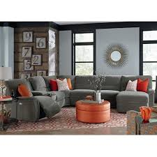 Reclining Sectional Sofas La Z Boy Aspen Seven Power Reclining Sectional Sofa With