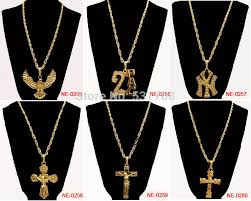 hip necklace chain images Wholesale new 2015 men hip hop rap 18k gold king crown pendant jpg