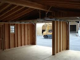 maryland amish horse barns shed row barns run in sheds and lean left modular garage interior view click either photo to see it larger right 24x24 foot modular garage