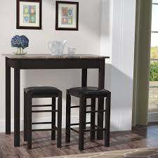 Pub Height Dining Room Sets Charlton Home Prosser 3 Piece Counter Height Dining Set U0026 Reviews