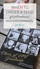 order graduation announcements when to order and send graduation announcements pear tree