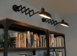 Bookcase Lights Industrial Bookcase Dining Room Eclectic With My Houzz Industrial
