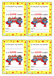 note from teacher super reader free printable teaching