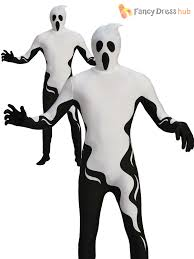 black suit halloween mens second skin suit halloween fancy dress costume stretchy