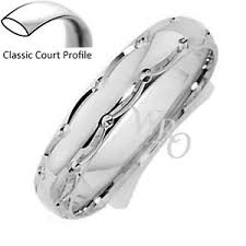 wedding ring brand brand new argentium 958 silver intricate patterned wedding ring