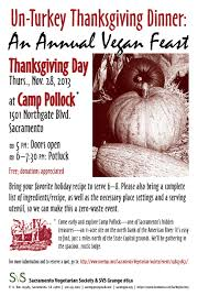 places to go on thanksgiving day events sacramento vegetarian society