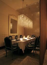 stylish rectangular crystal chandelier dining room crystal