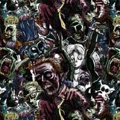 walking dead wrapping paper zombies fabric wallpaper gift wrap spoonflower