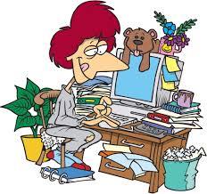 cartoon desk clip art library