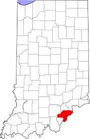 Clark County Zip Code Map by Underwood Indiana Wikipedia