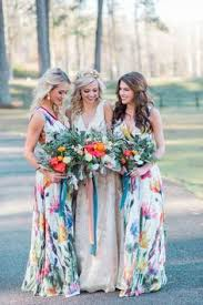 floral print bridesmaid dress riot founder s napa farm wedding floral bridesmaid dresses