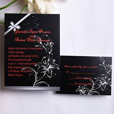Red And Black Wedding Classic Red And Black Floral Wedding Invitations Ewi152 As Low As
