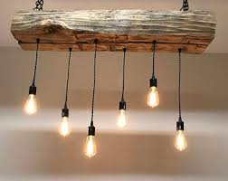 Wooden Light Fixtures 42 Reclaimed Barn Sleeper Beam Wood Light Fixture With Led Edison