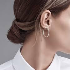hoops earrings t wire hoop earrings in sterling silver medium