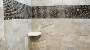 Tile Bathroom Shower Custom Home With Porcelain Tile And