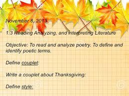 11 17 reading analyzing and interpreting literature ppt