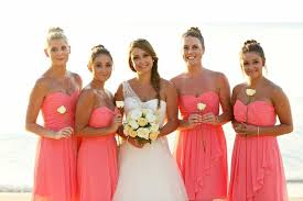 wedding bridesmaid dresses chic coral bridesmaid dresses for wedding theme elite