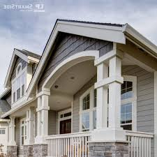 lp smart siding exterior traditional with timber framing
