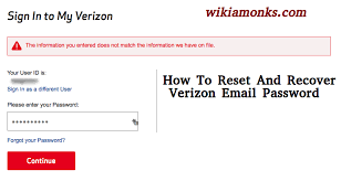 how to reset a verizon email password how to reset and recover verizon email password wikiamonks