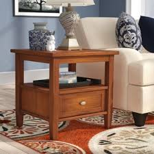 Living Room Table With Drawers End Side Tables With Drawers Wayfair