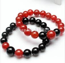 beaded bracelet girl images Natural 8 10 12mm red black round beaded bracelet customized jpg