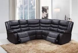 Corner Recliner Sofas New Harvey Bonded Leather Corner Recliner Sofa With Cupholder In