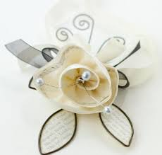 How To Make Corsages And Boutonnieres Cynthia Shaffer Fabric Wire Paper U003d Prom Corsage And