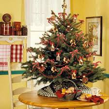 miniature tabletop tree decorating ideas family