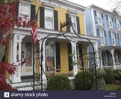 washington dc wooden residential houses built in colonial stock