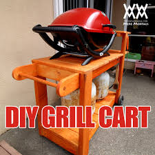 diy grill table plans barbecue grill cart save money by making your own